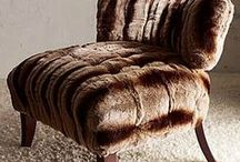 """Fabulous """"Fur""""niture / Furniture we've found with fabulous fur accents.  / by Jackson Design"""