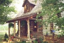 Cabins / Log cabins, Small cabins, cabins in the woods, lake houses, cabin decor, cabin decorating / by Becky Scott