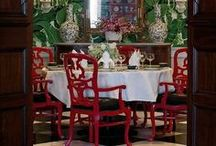 Chinoiserie /  What is Chinoiserie? A style of ornamentation current chiefly in the 18th century in Europe, characterized by intricate patterns and an extensive use of motifs identified as Chinese.  / by D