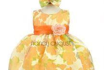 Orange Baby Dresses / by Nancy August Flower Girl Dresses