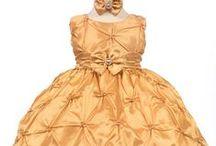 Gold Baby Dresses / by Nancy August Flower Girl Dresses
