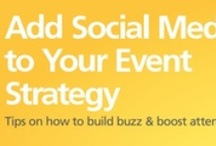 Add Social Media to your Event Strategy / Great tips on how to build buzz and boost attendance / by Constant Contact