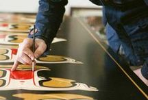 signs / signage | pinstriping | hand painted | awesomeness / by Hannah McGowan