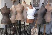 Antique Mannequins & Dress Forms / I love the simple beauty of these old tailors dummies and display mannequins... / by Betty and Violet