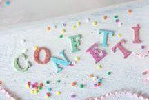 PARTY | Confetti / by Jenifer | hello love designs