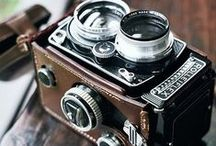 Camera Love / I love all cameras, but vintage film cameras will always hold a special place in my heart.. / by Lisa Arnel {Bossy Baby Workshops}