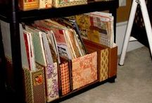 craft spaces and storage / by Sue Sande
