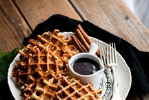 pancakes + waffles / my favourite breakfast options / by Kathryn / London Bakes