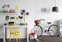 Decoração com bicicletas ♥ / Inspirações para decorar ambientes com bicicletas  / by Débora Alcântara