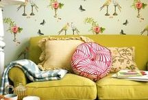 Interior Design / Living Rooms, Sitting Rooms, Kitchens, and Great Examples of Interior Design / by Emily Brown