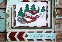 SNOW.PEEPS. by Unity - Tracey Malnofski {artist}  / by Unity Stamp Company, Angela Magnuson
