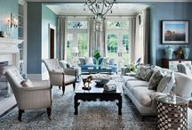 Living Room Lust / Silver, turquoise, mirrored, shiny things. / by Jasmine