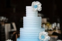 Wedding Cakes / Some great wedding cakes and more! Blue Petyl creates AMAZING couture wedding bouquets in your colors.  Visit us at www.bluepetyl.com. / by Blue Petyl