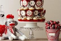 Sock Monkey Party / sock monkey themed child's birthday party / by Baby Dickey