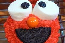Elmo bday party / Elmo and Sesame Street themed birthday party ideas: food, decor, etc. / by Baby Dickey