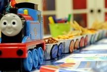 Thomas Party / Thomas the Train themed birthday party ideas - food, decor, etc. / by Baby Dickey