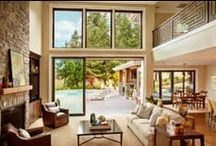 Indoor-Outdoor Living / The use of large sliding doors integrates outdoor and indoor living space. Bring in more views, more fresh air and more natural light to your home. Get inspired.   / by Milgard Windows & Doors