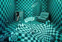 Checkerboard (DAMIER) / « Le carré est un triangle qui a réussi, ou une circonférence qui a mal tourné. » Pierre Dac  / by Amylee Paris