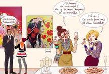 """Projet Arty 2014 / """"Quand l'illustration s'invite à une exposition de peintures"""" Une fois par mois, je vous invite à découvrir sur le blog www.amylee.fr, le coup de crayon d'une illustratrice ou d'un illustrateur que j'adore. Une fois par mois, un de mes tableaux prend place au cœur de cette illustration. / by Amylee Paris"""