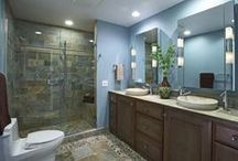Home - Bathrooms / Full baths, showers, half baths, decorating ideas for bathrooms / by Jodi