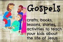 Gospels / Gospel activities for kids Gospel crafts  / by Ticia Adventures in Mommydom