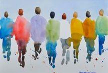 pen/paper, chalk/sidewalk... / by Christine Bower