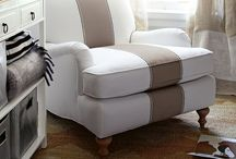 slipcovers & upholstery details / by Jennifer Silverio