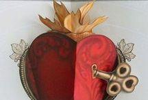 """""""Sacred Heart"""" folk art  / by Kelli Rockwood Cline"""