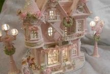 Christmas Villages, Putz Buildings & Accessories / by Deborah Anne