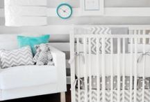 Oh Baby! Nursery Ideas / Decor, color pallets, ideas for baby's nursery. Small spaces, storage ideas.  / by Maegan Power Noble