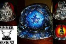 Hard hats, Welding Helmets and More / All custom airbrushed hard hats and welding helmets / by Zimmer DesignZ Airbrush Shop