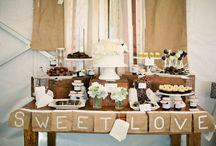 Pretty dessert / cake & dessert table inspiration  / by Sarah J Winkler