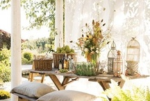 Recycled Outdoor Inspiration / Outdoor and Garden Inspiration made from recycled or upcycled items. / by Dinah Wulf {DIY Inspired}