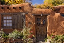Adobes - the buildings, not the software! / I absolutely love the idea of a home built from nothing more that that which the Earth provides. I'd love to live in one built to be energy efficient and completely carbon neutral ... wouldn't that be cool? / by Noel Dandes