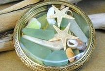 Sea Glass & Beachcombing / Beautiful beach finds: sea glass, shells, rocks...and inspiration for crafting and decorating with them. / by Ann Harquail (My Nearest & Dearest)