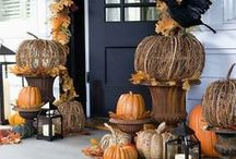 Fall / Autumnal, Halloween and Thanksgiving decor, projects and scenes.  / by Jennifer Vola