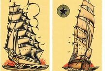 Marley's room / Vintage Sailor tattoo decoration rated G / by Joanna Kerr