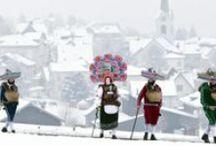 Swiss Christmas / Around Christmas, snowy Switzerland is sparkles with bright lights and faces... http://bit.ly/ChristmasMarkets_MyS / by Switzerland | Schweiz | Suisse | Svizzera