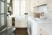Laundry Room/Mud Room / Perfect organization and styling for your laundry room / by Design Chic-Kristy Woodson Harvey/Beth Woodson
