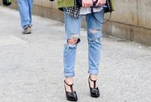 How to wear:  Ripped Torn Denim  / by STEELE MyStyle