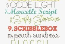 FONTS & PRINTABLES / by Jessica Cress