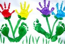 Hand print ~ Footprint - Ideas / by Sherry Berry