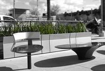 UrbanEdge / UrbanEdge is an integrated collection of landscape framing and furniture elements with a leading-edge  perspective on urban space. Created in collaboration with award-winning landscape architects Gustafson Guthrie Nichols (GGN,) the collection provides informal, dynamic outdoor elements that help designers make more effective use of available urban space. UrbanEdge defines edges, activates corners, creates niches and furnishes lively outdoor settings that interface with the urban fabric. / by Landscape Forms