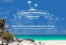 Ultimate Immersion Sweepstakes! / To our Travel Friends! We want to send you packing. Sign up for a FREE Google Helpout and you & a friend can win a trip to #Mexico: https://helpouts.google.com/+RosettaStone  / by Rosetta Stone