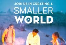 Smaller World / Every day, millions of people use a second language to make a happier, smarter, and more connected world. In short, a smaller world. / by Rosetta Stone