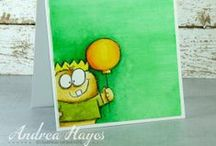 Lil Monster's Balloon / by AnnaBelle Stamps