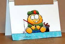 Lil Monster Gone Fishing / by AnnaBelle Stamps