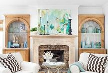 Mantel Makeovers /  The fireplace always loves to be the center of attention, the way its mantel is decorated can have a dramatic impact on a room. The perfect perch for displaying everything from art to flowers to a personal collection of objects, the mantel can say a lot about a room's intended style. / by Jenny Shrum