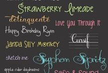 font snob / by candice k