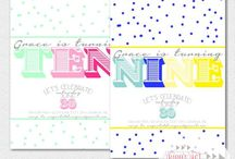 Girl's Birthday Invitations / by Telisa Van Leeuwen